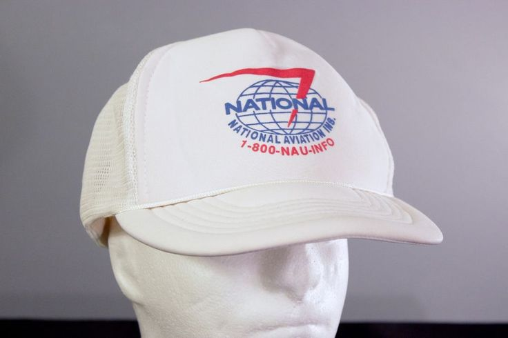 National Aviation Insurance Snapback Baseball Hat Trucker Cap White Airplanes #Capital #Snapback