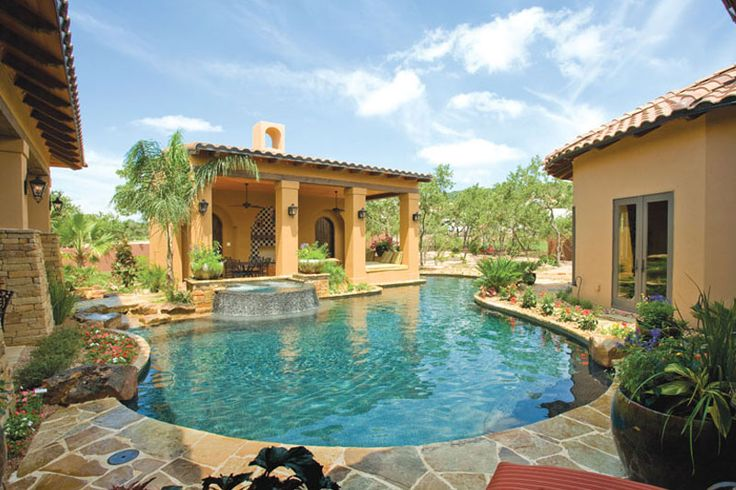 House Wrapped Around Pool Privacy Pool Pinterest Beautiful Covered Patios And Style