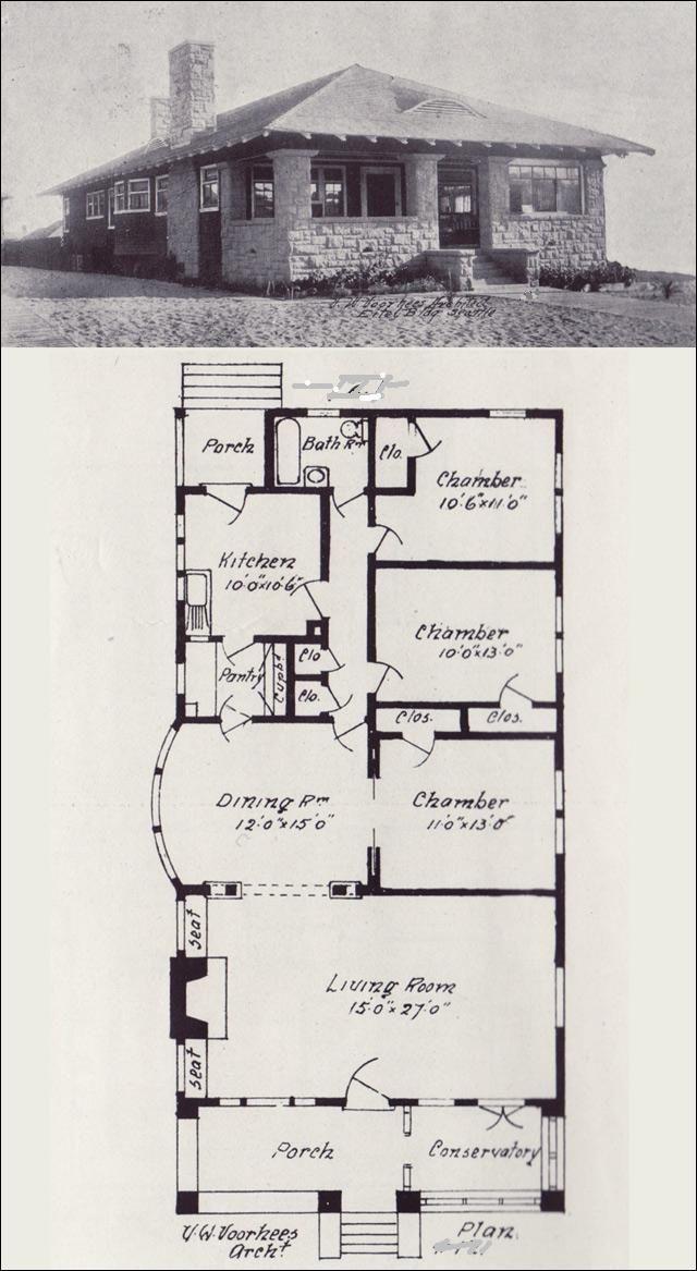 Vintage Rock House Blueprint Houseplan.Change To 2 Bedroom With 2 Bathrooms  Between The Bedrooms