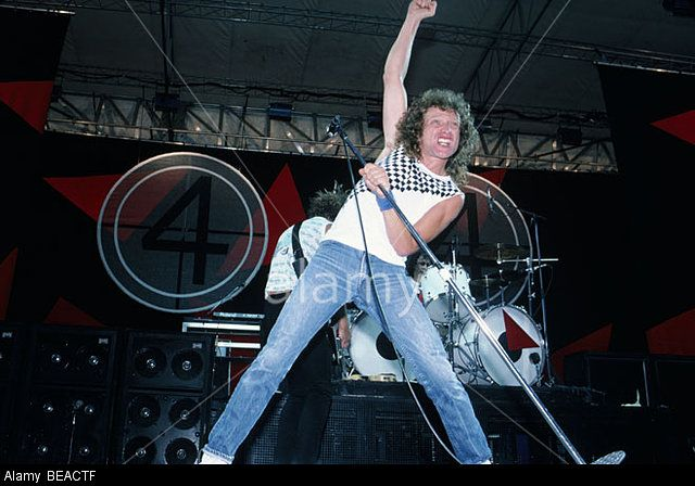 Foreigner - Anglo-american Rock Group With Lou Gramm On Vocals Stock Photo, Picture And Royalty Free Image. Pic. 26045167