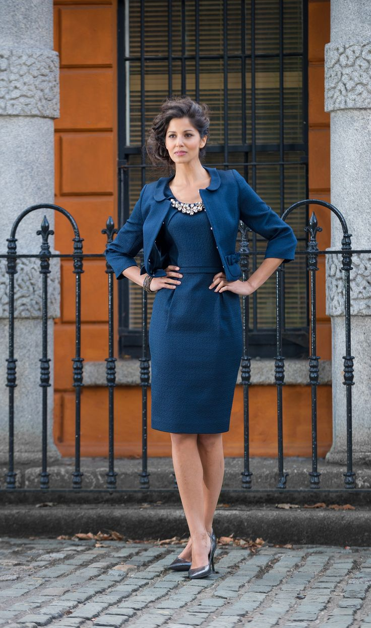 Aideen Bodkin Davis Dress and Jacket  @ Anastasia Boutique http://www.anastasiashop.com/aideen-bodkin-davis-navy-dress/