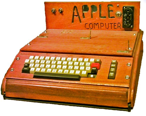 The Apple I was sold as an assembled circuit board and lacked basic features such as a keyboard, monitor, and case. The owner of this unit added a keyboard and a wooden case.