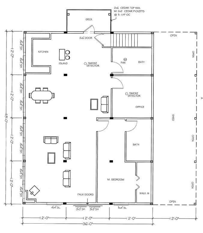 Pole barn living quarters floor plans floor matttroy for Metal building plans free