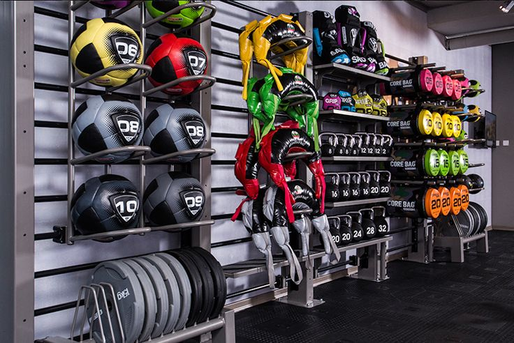 Dynamic training helps us relate principles of movement efficiency using movement patterns designed to help people become more functionally fit, strong, flexible, coordinated, and dynamically powerful. Dynamic training accessories help us to do our job. They are tools of the trade we use to teach people how to exercise effectively. Have a look. Awesome storage solution, don't you think?