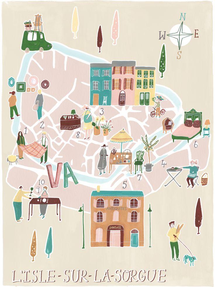 Pau Map%0A Polly Fern illustration and ceramics