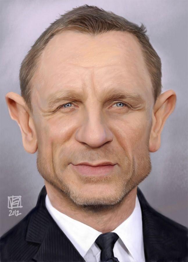 Daniel Craig: Altamore Vincent, Daniel Craig, Cartoon, Illustration, Caricaturas Art, Funny Caricatures