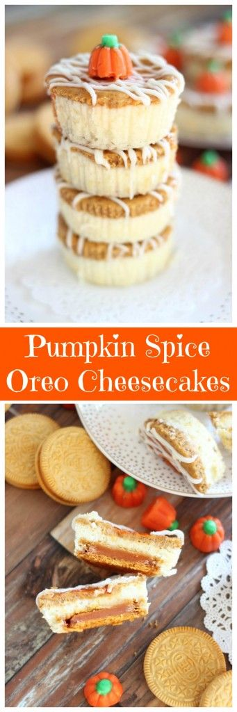 My traditional double layer pumpkin cheesecake tops a Pumpkin Spice Oreo as its…