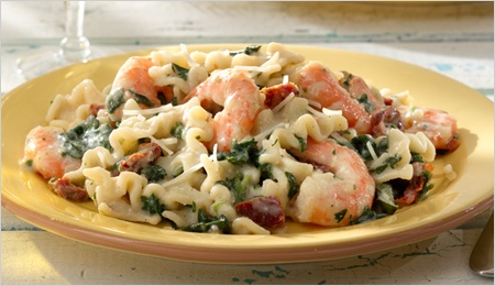 Pasta with Shrimp and Sundried Tomatoes