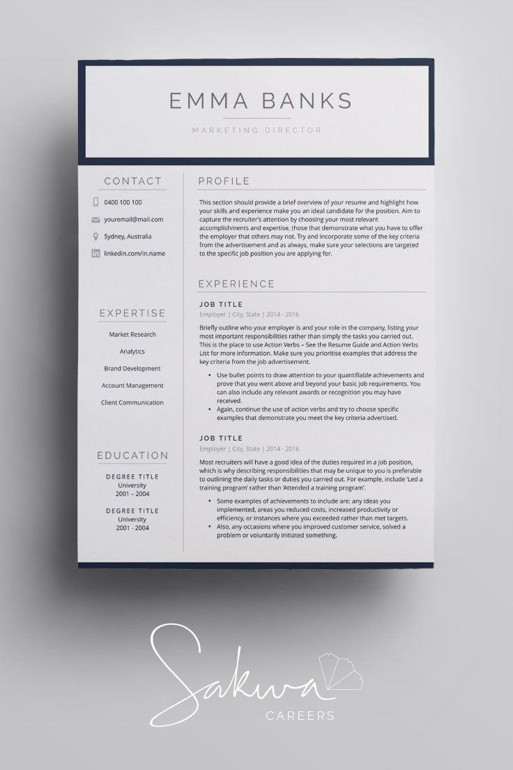 Resume Template Resume Template Word Resume Template Mac