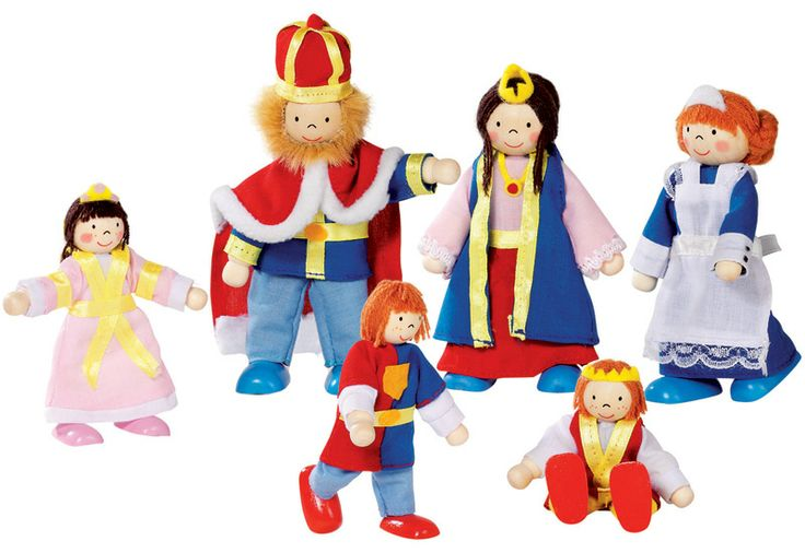 Playing with dolls just became a whole lot fun! This adorable flexible, bendy puppet royal family includes King, Queen, 2 Princes, a Princess and a Maid.  They all have wooden heads, bodies, legs and arms which are connected by a bendable rope to allow movement and role play.   There are 6 characters in the set and all of them are dressed in their royal attire and ready to be played with. Great for keeping the little ones busy on a rainy day or take them along with you on your next road trip…