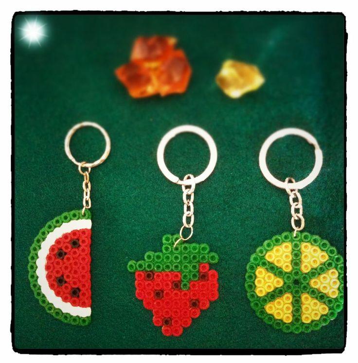 Fruit keyring  hama beads by El Rincón de BELAME