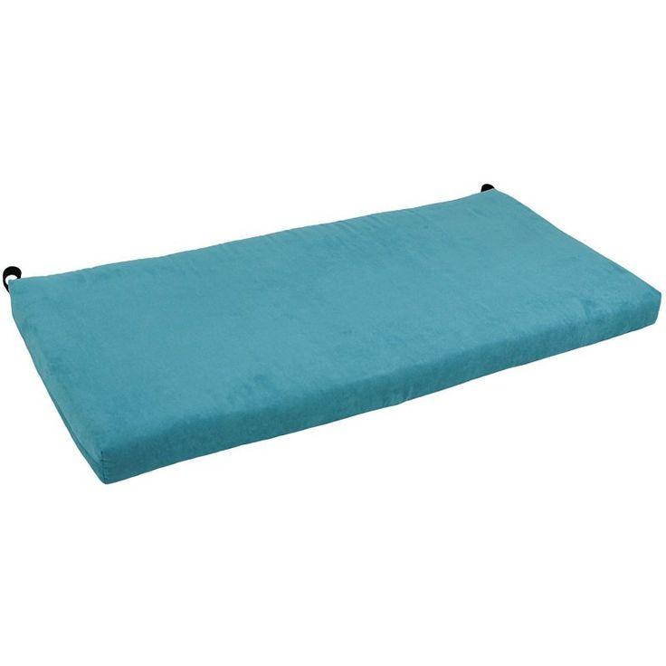Blazing Needles Solid Microsuede Indoor Bench Cushion Tangerine Dream - 963X19-MS-TD