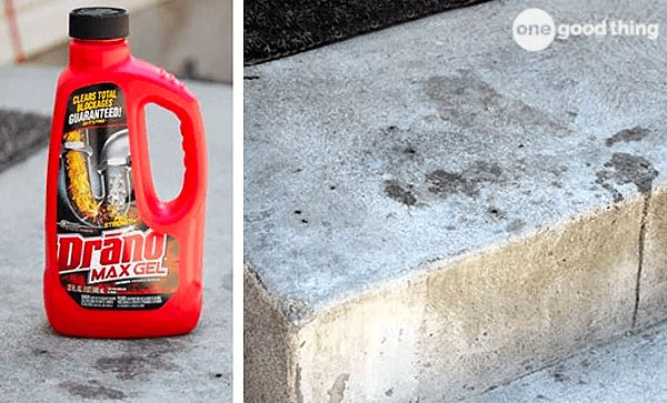 Drano Saved My Marriage! {Or How To Clean Concrete Stains} - One Good Thing by JilleePinterestFacebookPinterestFacebookPrintFriendly