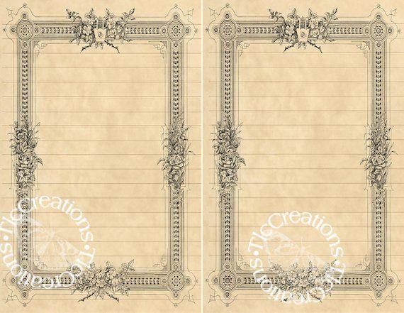 Border Basics Add Ins Vintage Printable Junk Journal Pages Etsy Vintage Journal Journal Pages Etsy