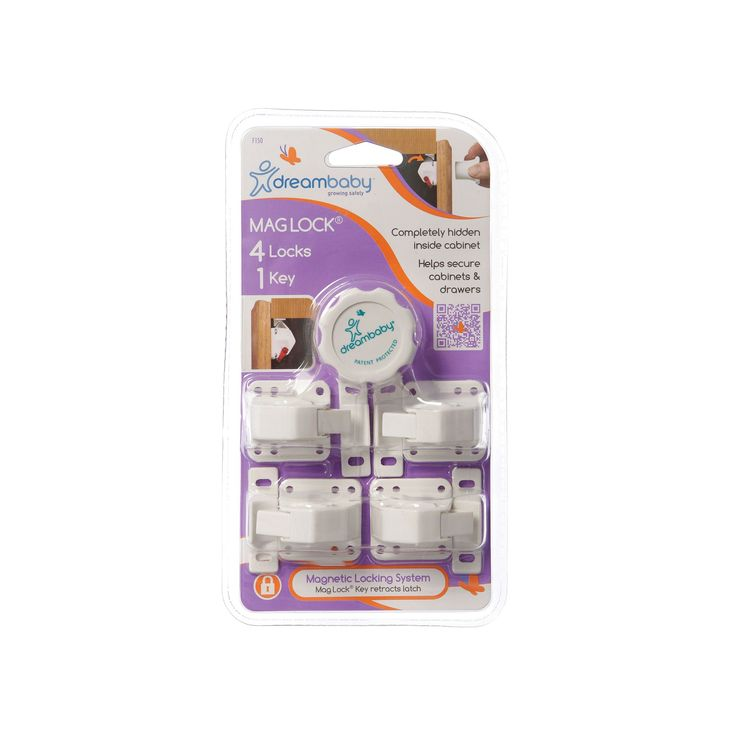 Dreambaby Mag Lock Magnetic Lock Set, White