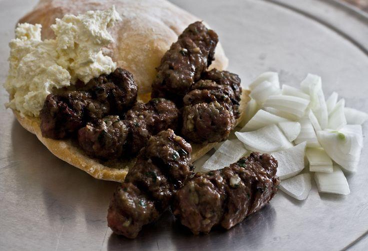 Bosnian meal: cevapi, kajmak, and somun recipes