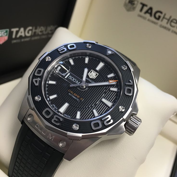 Have the best watch on your team! Tag Heuer Aquaracer Chronograph Automatic Black Dial CAP2110.FT6028 Buy it quick!