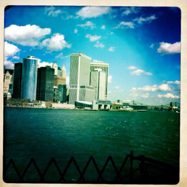 Manhattan from the Staten Island ferry, NYC