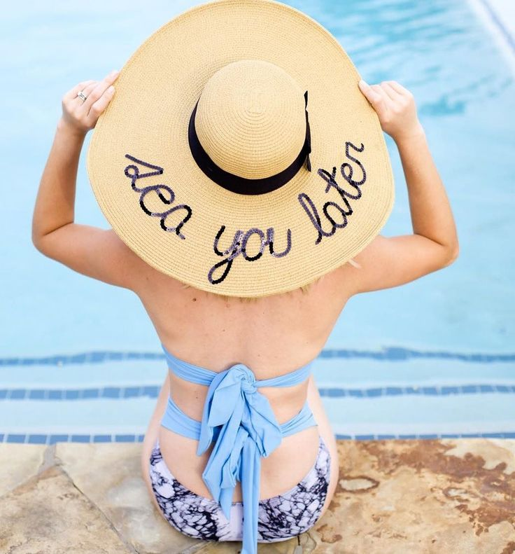 """Destination bachelorette party favor idea - """"Sea you later"""" beach hat {Courtesy of The Every Girl}"""