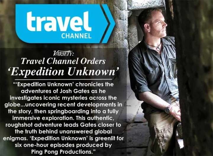 Travel Channel Orders Expedition Unknown