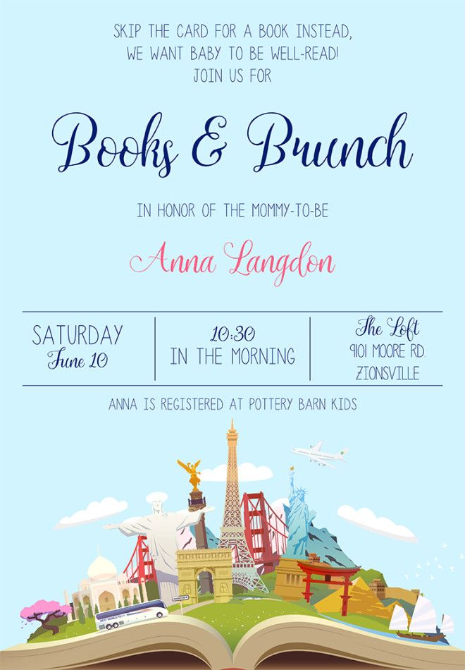 22 Baby Shower Invitation Wording Ideas Baby Shower Brunch Baby Shower Invitation Wording Storybook Baby Shower