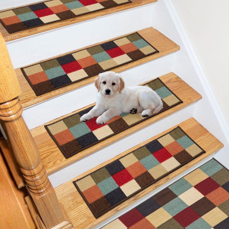 Best Ottomanson Ottohome Chekered Design Non Slip Pet Friendly 400 x 300