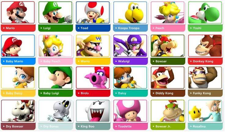 List of All Mario Char...