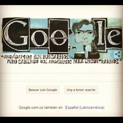 Google siempre tan acertado con sus doodles. Julio Cortázar. #escritor #redacción #inspiración