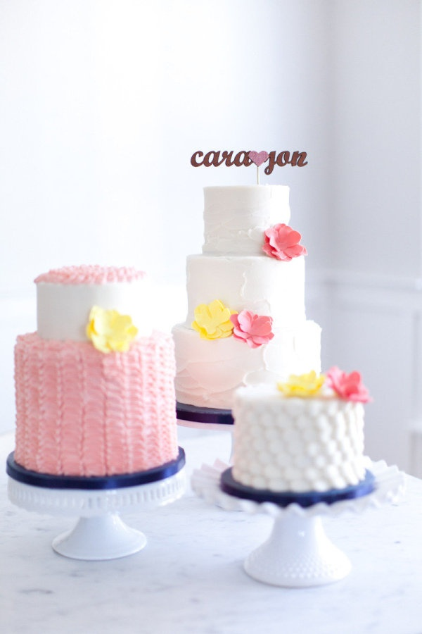 a line-up of pretties  Photography by marinkristine.com, Cake Design by http://www.sweetcakesbyrebecca.com/