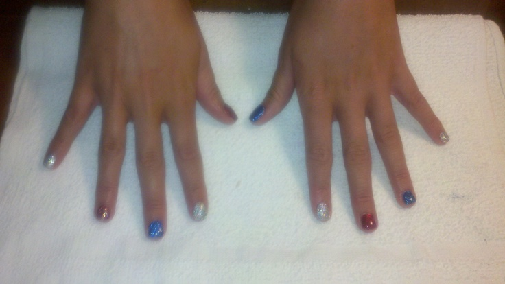 4th of July!4Th Of July, Nails