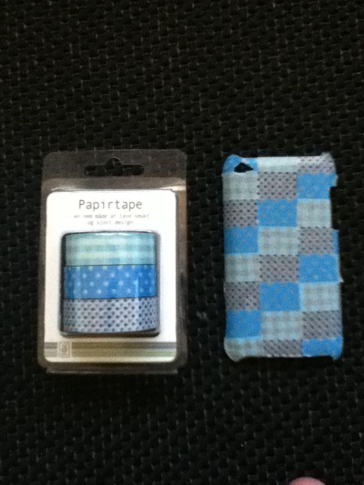 iPod tusch cover Gennemsigtigt cover med forskellig farvet tape