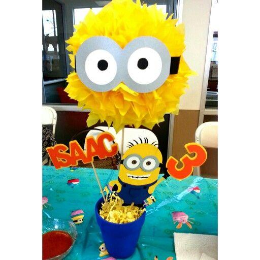 Minion theme birthday party centerpiece!