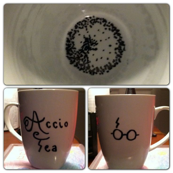 Harry potter sharpie mug.. THIS IS AWESOME i wanna make it