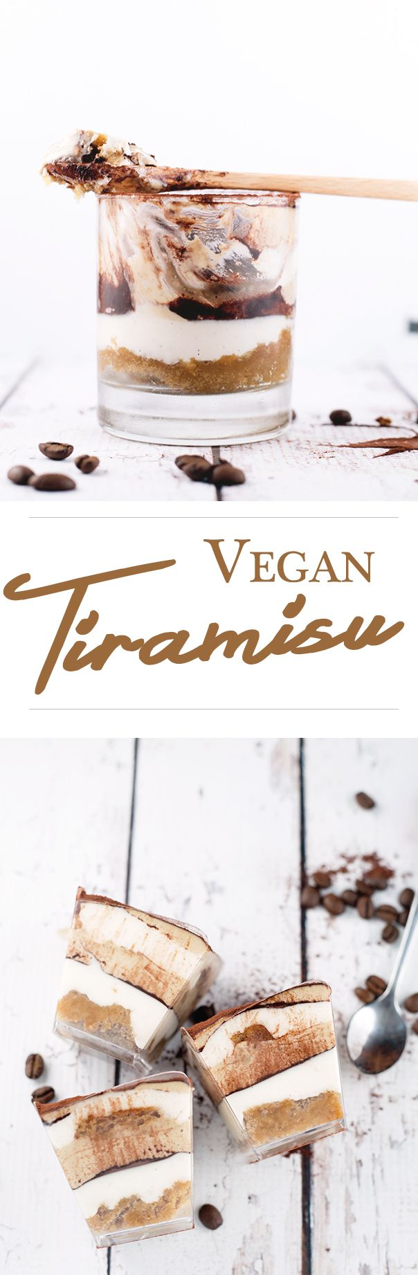 "Decadent Tiramisu - you won't believe it's 100% Vegan. Coffee/Kahlua Soaked Sponge and Vegan ""Mascarpone"" Filling. Yum. #vegan #tiramisu #dessert #veganrecipe #coffee #cake #delicious"