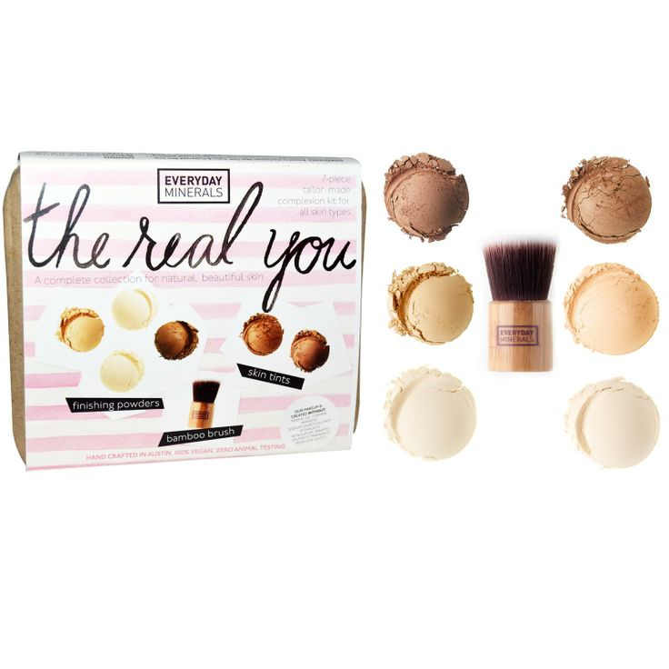Everyday Minerals, The Real You Complexion Kit, For All Skin Types, 7 Piece Kit