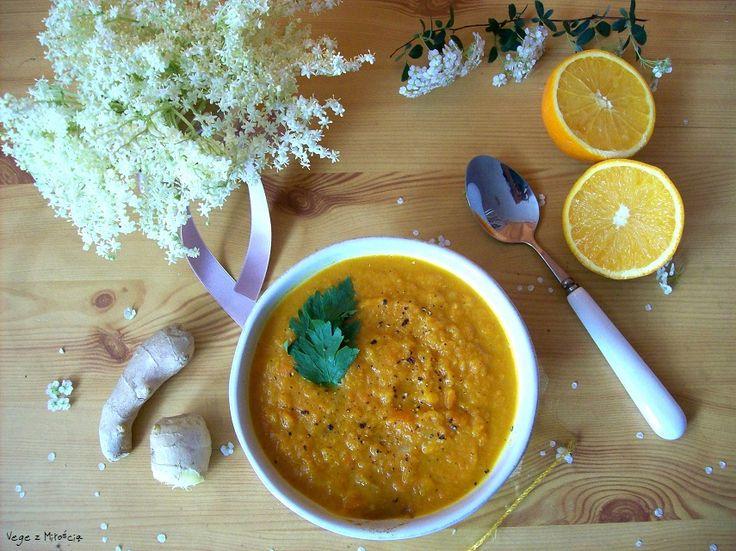 Vege z Miłością: Marchewkowa zupa krem z imbirem i pomarańczą oraz czym jest dla nas weganizm