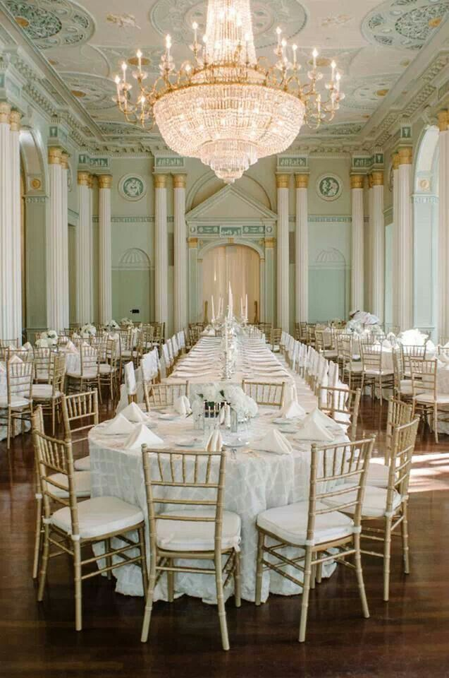 Gorgeous french inspired wedding reception space for Most beautiful wedding venues in the world
