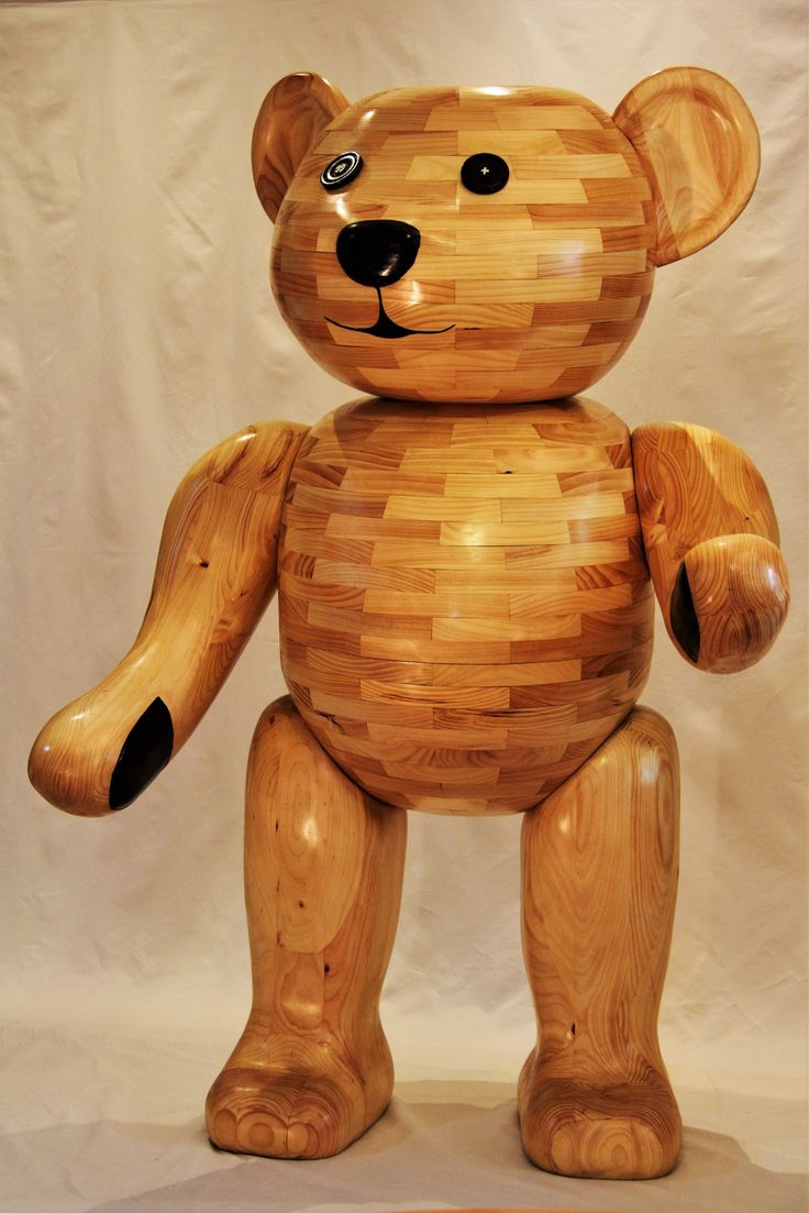 """""""WOOD"""" YOU LIKE TO MEET MY OLD TEDDY SCULPTURE 