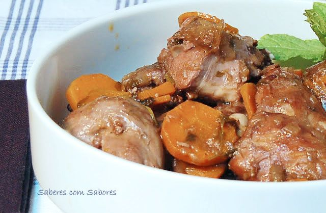 Receita de coelho com hortelã e cenoura