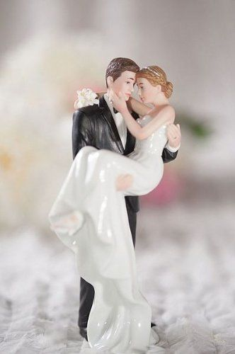 Groom Holding Bride Traditional Cake Topper This is a very romantic cake topper. You can change the hair color if you prefer.