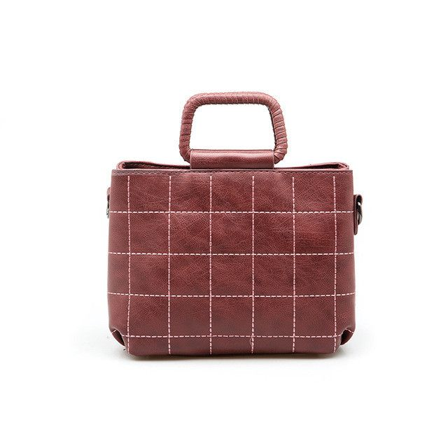 Women Totes Bags Plaid PU Leather Handbag Designer Top-Handle Bags Autumn and Winter New Arrival