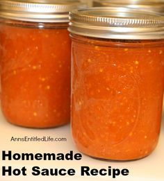 100+ Hot Sauce Recipes on Pinterest | Hot sauce homemade ...