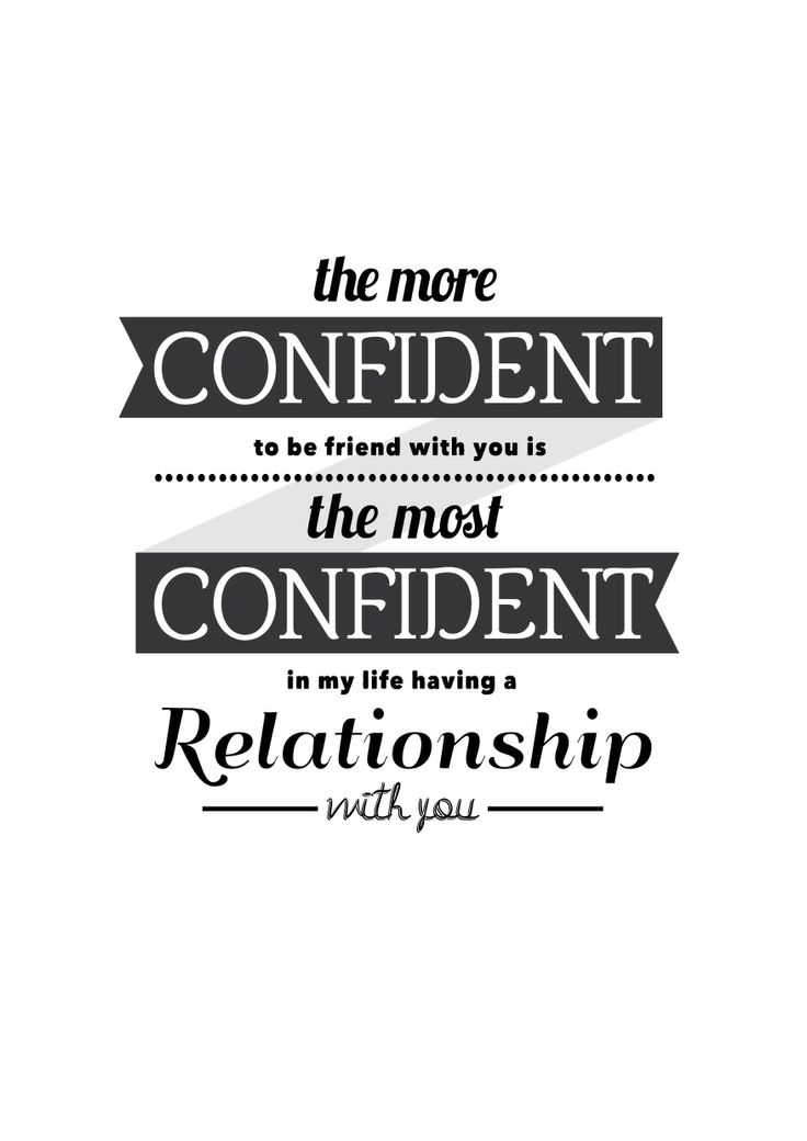 Confident #typography