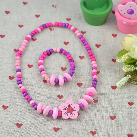 HOT!The children's gift!Wholesale children/kid jewelry set Young necklace bracelet Lovely tone N CS02