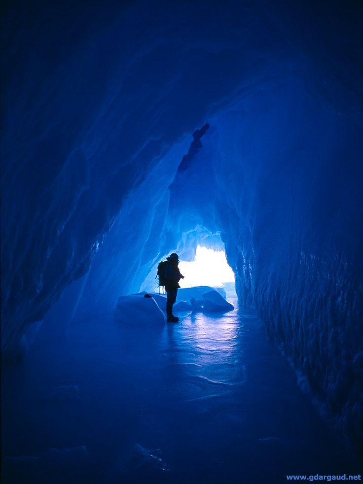 Ice cave within an iceberg, Antarctica , 1993 ( Buy )