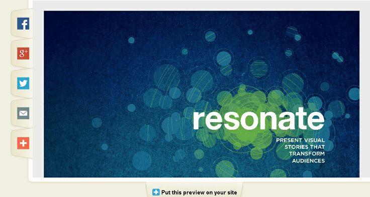 Du Kan downloade Nancy Duartes populære bog Resonate her - helt gratis.  Sammen med andre E-bøger i øvrigt :)