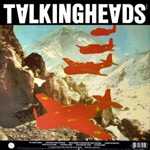 Talking Heads: Remain In Light 1980 (c) Sire  The cover art was conceived by Weymouth and Frantz with the help of Massachusetts Institute of Technology researcherWalter Benderand hisMIT Media Labteam.UsingMelody Attackas inspiration, the couple created a collage of red warplanes flying informationover theHimalayas.The planes are an artistic depiction ofGrumman Avengerplanes in honour of Weymouth's father who was aUS Navy Admiral.The idea for the back cover included