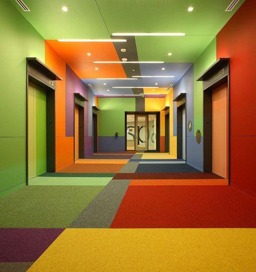Valspar Lobby (Photo credit to Pete Sieger)  Valspar Corporation Minneapolis, Minnesota10th Floor Elevator LobbyInterior Design: Meyer, Scherer & Rockcastle, Ltd. A two-image composite w/ 24mm TSE (shift-up/shift-down)