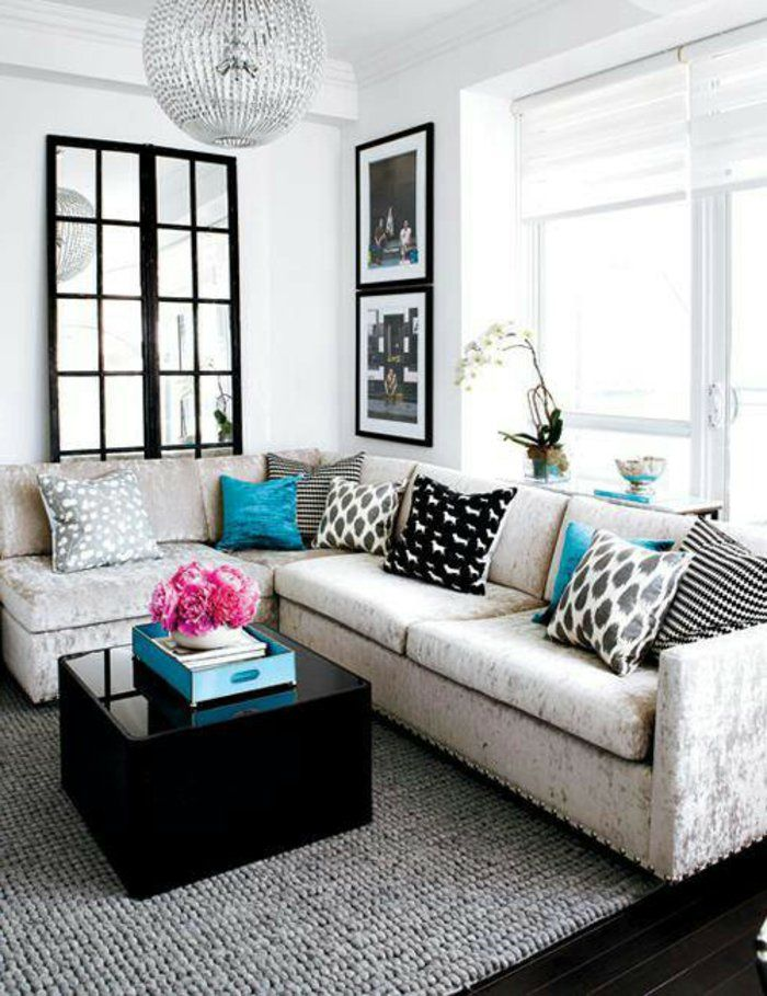 Die besten 25+ Small l shaped couch Ideen auf Pinterest kleines - couchgarnituren fur kleine wohnzimmer