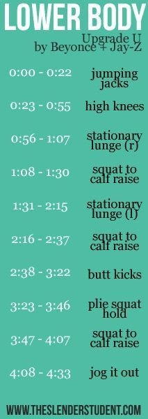 One Song Workout - Upgrade U - Beyoncé and Jay Z